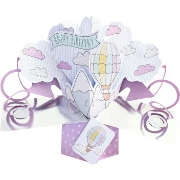Pop-up card - Luftballon