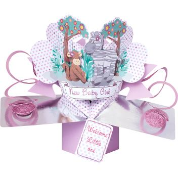 Pop-up card - Baby girl