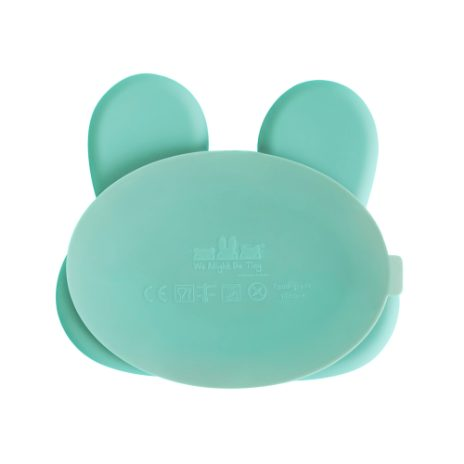 Silikonetallerken, rabbit  - mint  - 2
